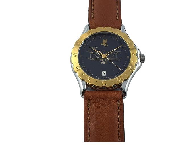 Reloj Suiza Zeno, aviador, gafas chapado en oro, Mode