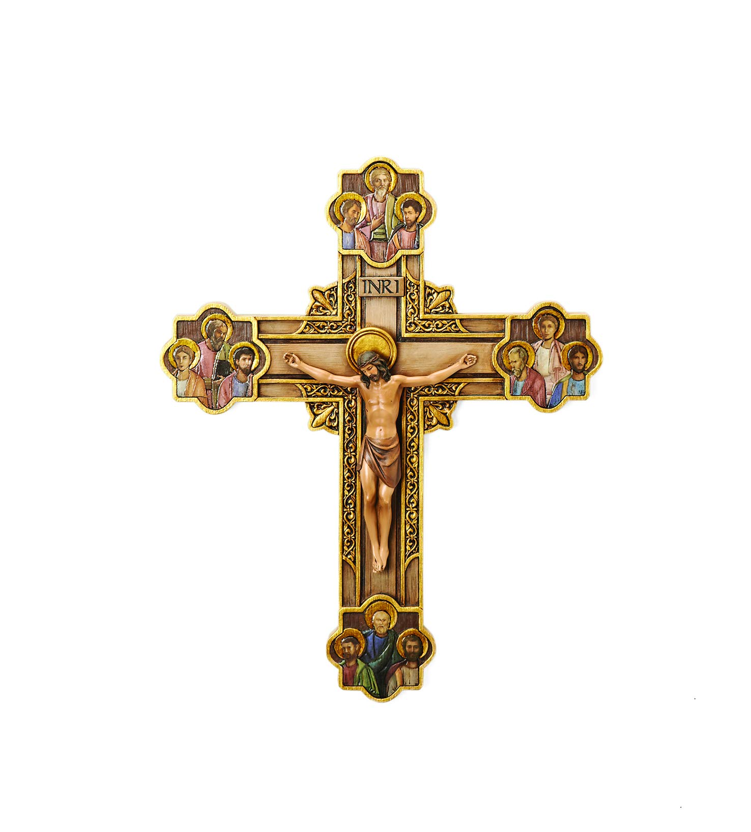 """Joseph's Studio by Roman - Collection, 12"""" H The Apostles Crucifix, Made from Resin, High Level of Craftsmanship and Attention to Detail, Durable and Long Lasting"""