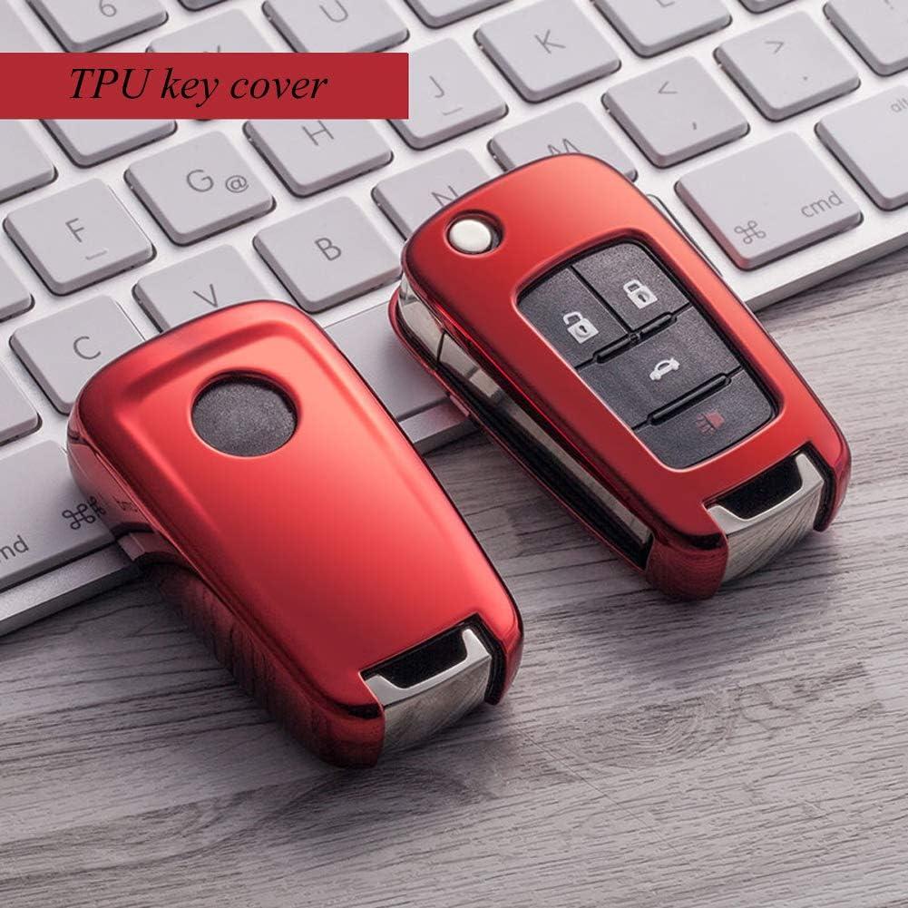 Kelay Autoschlüssel Hülle Soft Tpu Key Protector Kompatibel Für Chevy Equinox Camaro Cruze Opel Astra Insignia