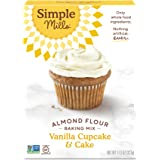 Simple Mills Almond Flour Baking Mix, Gluten Free Vanilla Cake Mix, Muffin pan ready, Made with whole foods, (Packaging May V