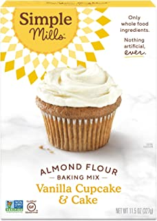 product image for Simple Mills Almond Flour Baking Mix, Gluten Free Vanilla Cake Mix, Muffin pan ready, Made with whole foods, (Packaging May Vary)