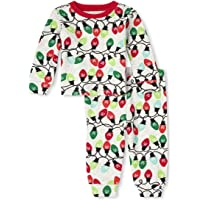 The Children's Place Baby and Toddler Glow Christmas Lights Snug Fit Cotton Pajamas