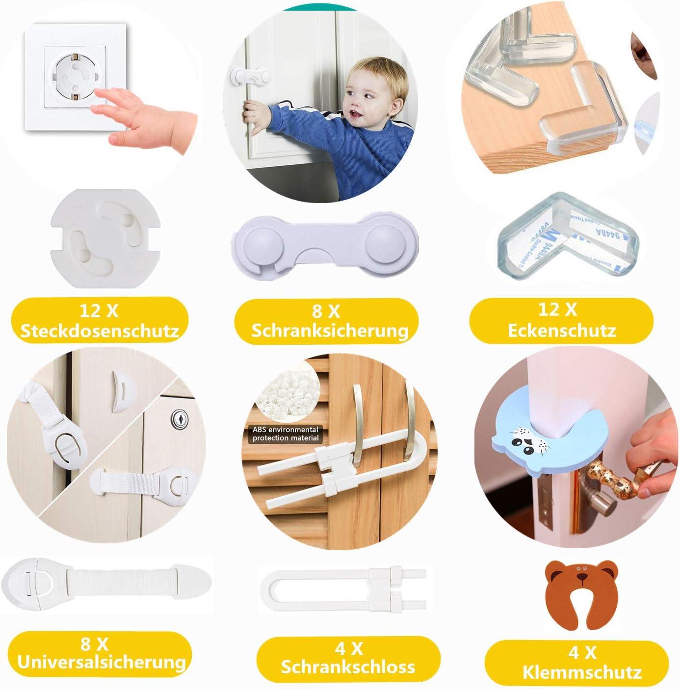 Conjunto de seguridad para ni/ños Protecci/ón para beb/és Kit completo para ni/ños Z/ócalo Protector 1-2