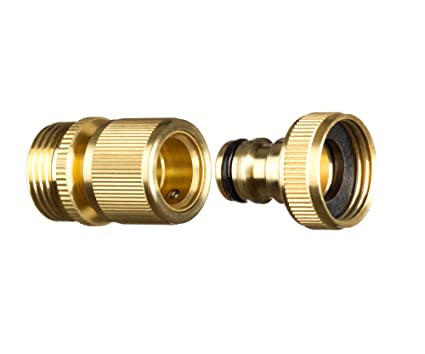 GORILLA EASY CONNECT Garden Hose Quick Connect Fittings. ¾ Inch GHT Solid  Brass. (