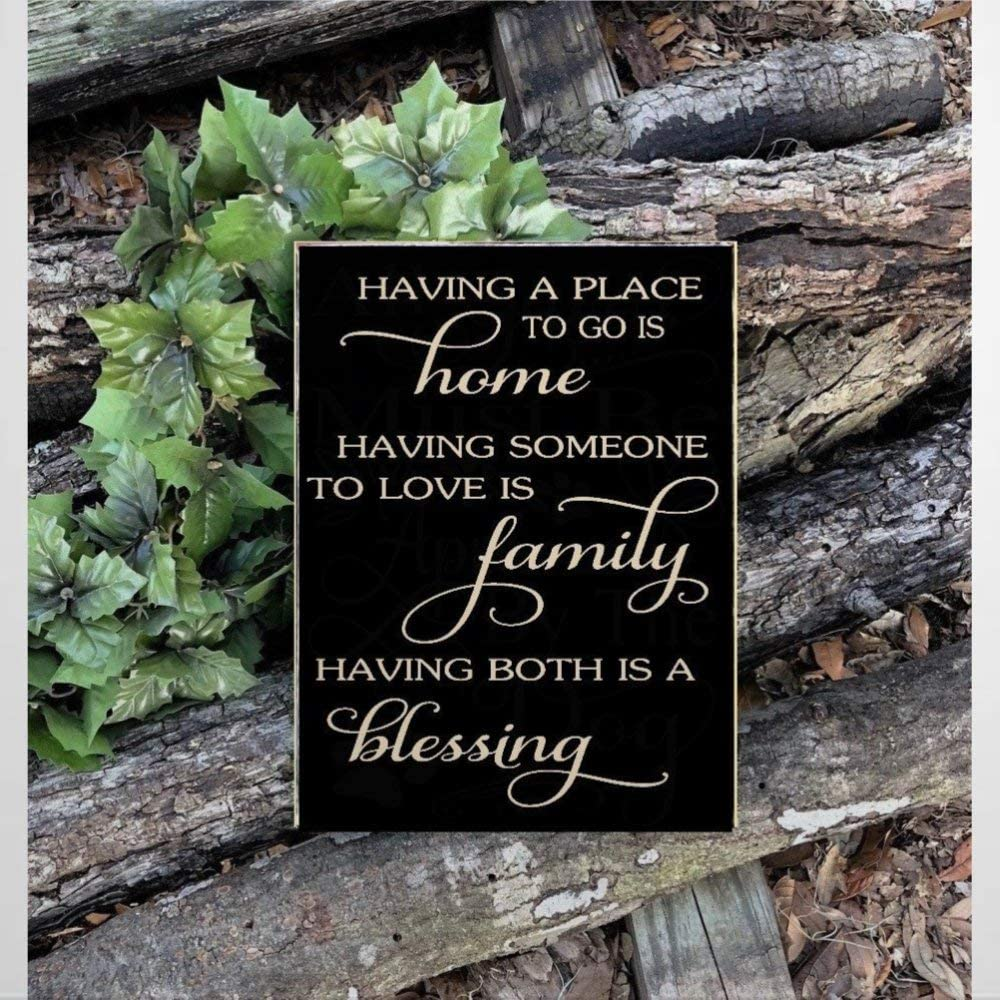 BYRON HOYLE Wooden Sign Family Blessing Sign, Wood Sign, Having Somewhere to Go is Home Wood Plaque Wall Art Funny Wood Sign Wall Hanger Home Decor