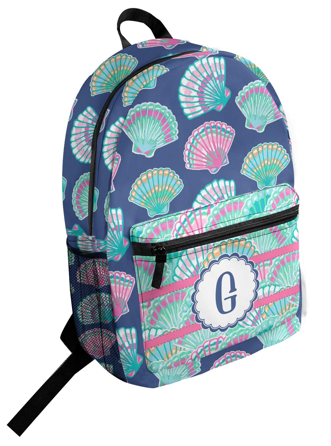 Preppy Sea Shells Student Backpack Personalized