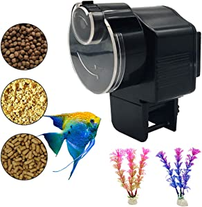 Bnzaq Automatic Fish Tank Feeder - Aquarium Auto Timer Food Dispenser for Vacation