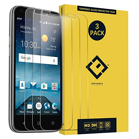 CENTAURUS Replacement for ZTE Z835 Tempered Glass Screen Protector,(3 Packs) Anti-Glare Shatter Proof Anti-Scratch Protective Film ZTE Maven 3 Z835 / ...