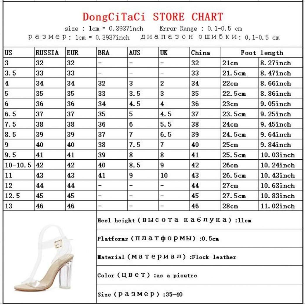 Womens Cllaary Perpex High Heel Sandals Ankle Strap Buckle Lucite Clear Block Chunky Heel Open Toe Sandal