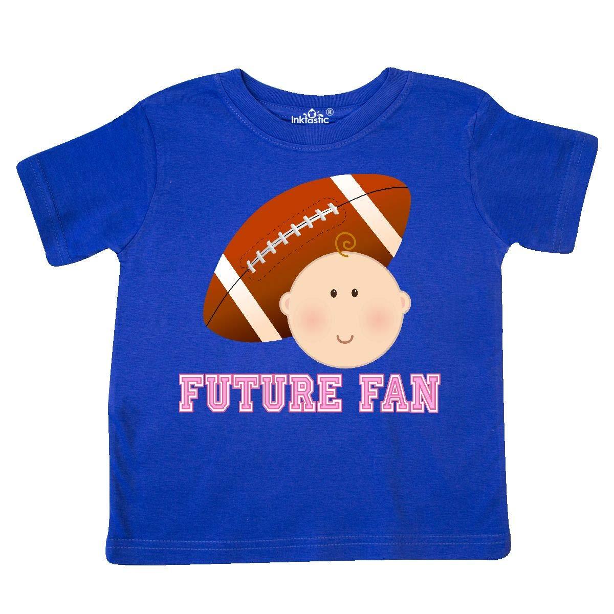 inktastic Girls Football Future Fan Toddler T-Shirt