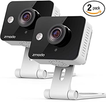 2 Pack Zmodo Wireless Security Camera System Smart HD WiFi IP Cameras with