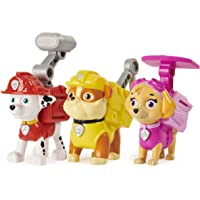 PAW Patrol, Action Pack Pups Marshall, Skye and Rubble 3-Pack of Collectible Figures with Sounds and Phrases