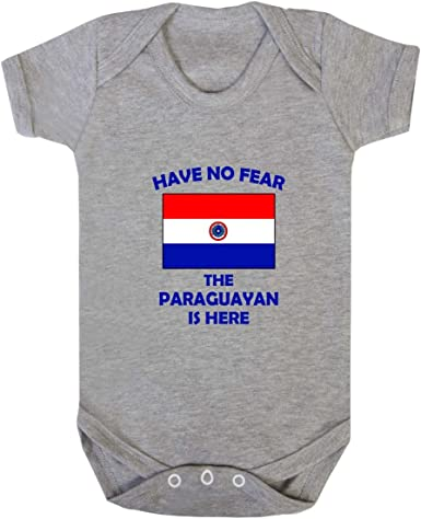 Paraguayan Flag Custom Text Personalized Baby Onesie Paraguay Flag Baby Bodysuit