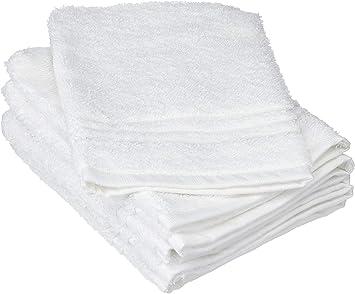 16x21 cm Coton Blanc ZOLLNER Lot de 10 Gant de Toilette