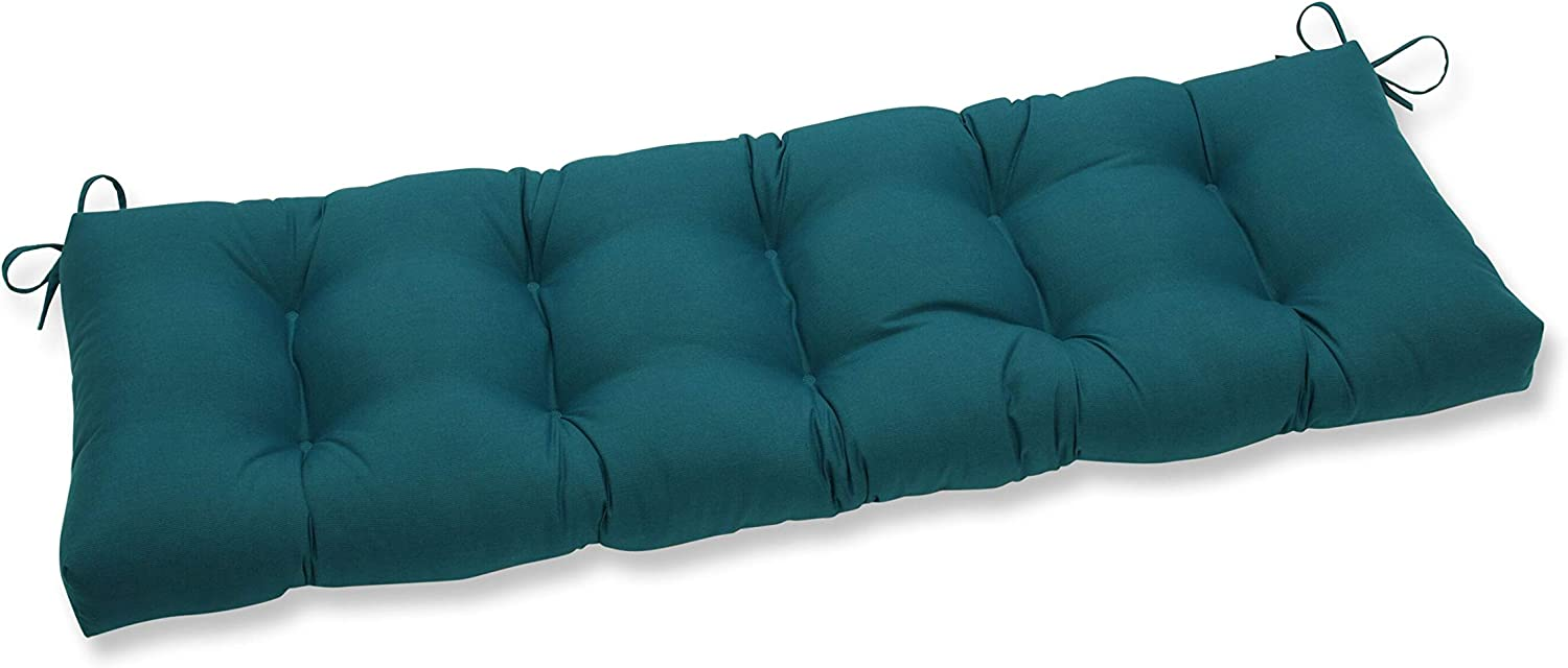 Pillow Perfect Outdoor/Indoor Spectrum Peacock Tufted Bench/Swing Cushion, 48