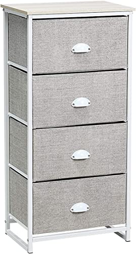 Giantex Dresser Storage Tower Nightstand W/Fabric Drawer