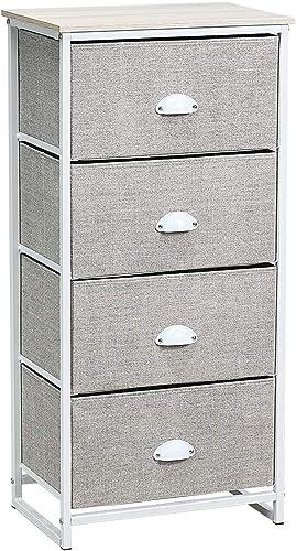 Giantex Dresser Storage Tower Nightstand W/Fabric Drawers - a good cheap modern nightstand