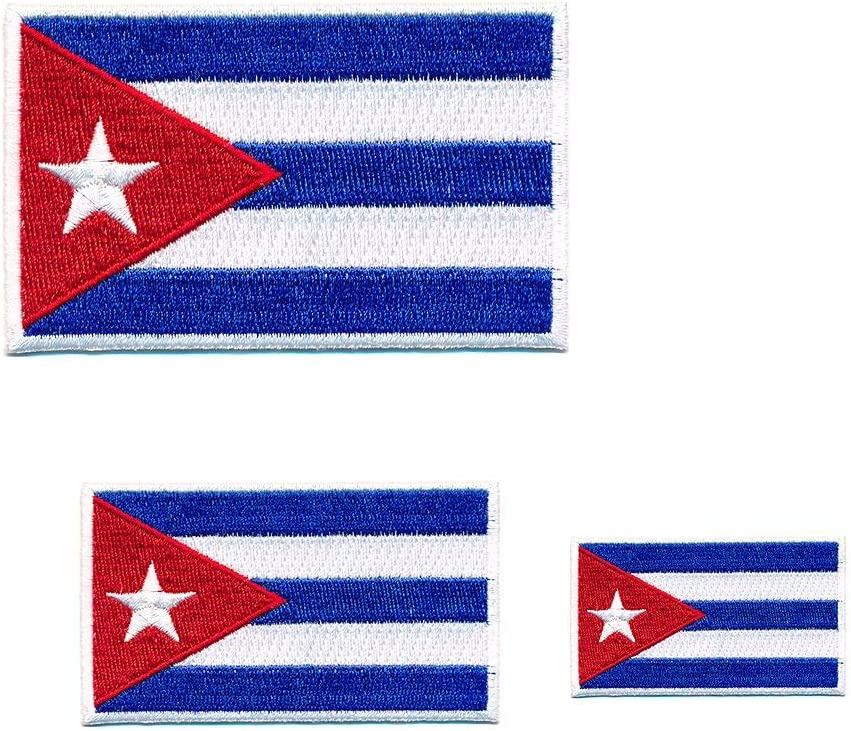 Hegibaer 3 Kuba Flaggen Karibik Havanna Cuba Flags Patches Aufnäher Aufbügler 0657 Auto