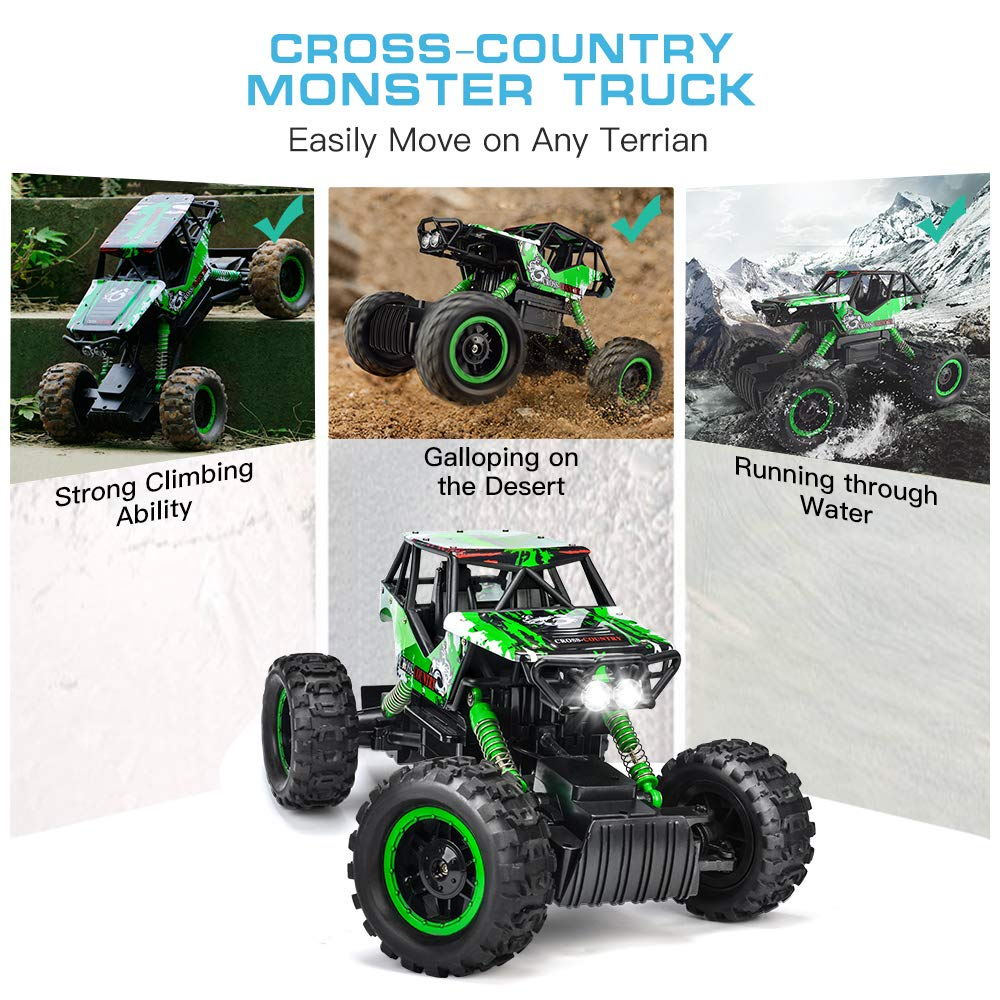 Double E 1/12 RC Rock Crawler Remote Control Truck 4WD Rechargeable Vehicles Off-Road Car by DOUBLE  E (Image #6)