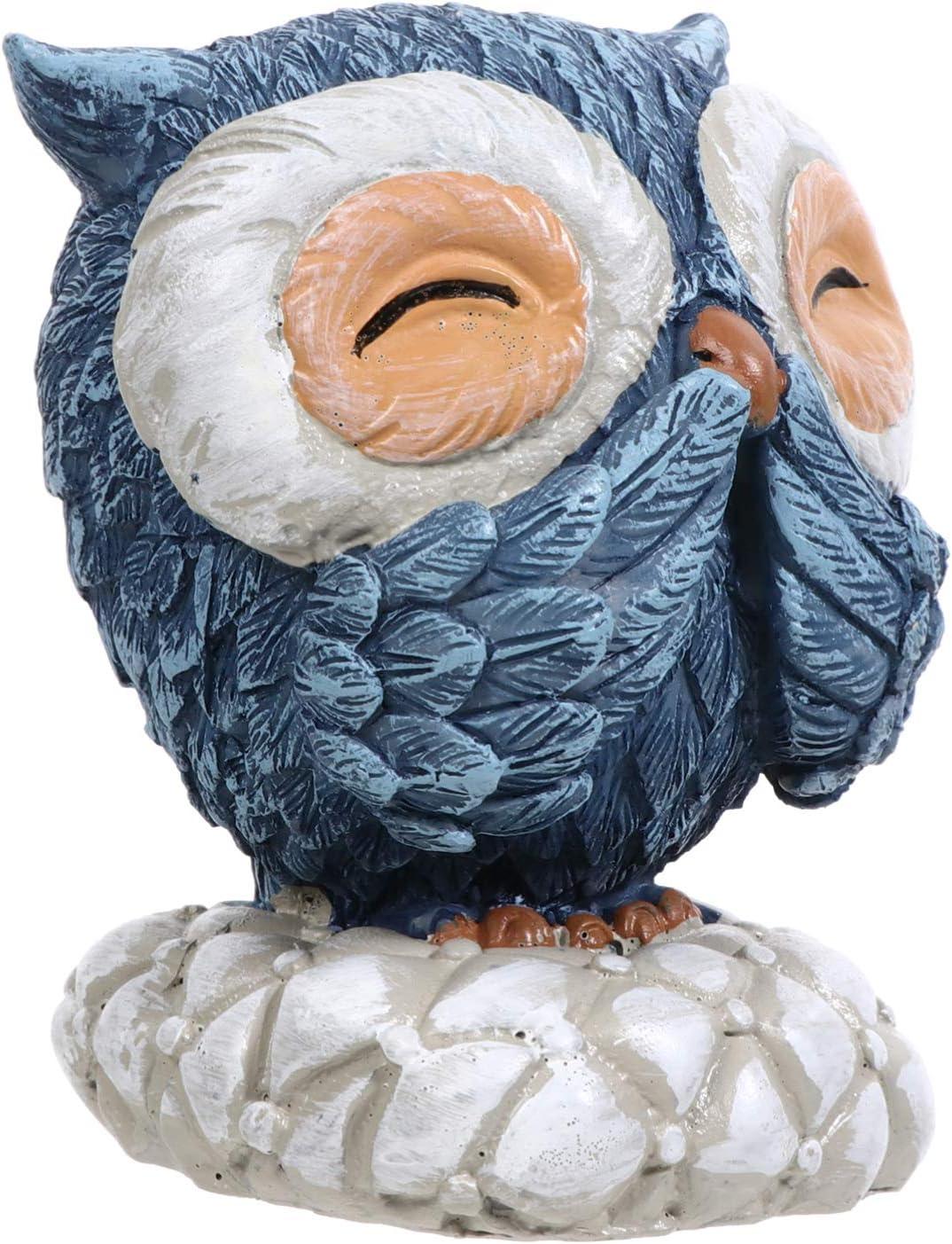 Homoyoyo Estatuilla de Búho de Resina Modelo Animal Estatua Mesa Escritorio Exhibición Colección de Arte Escultura Figura de Acción de Animal Pequeño para El Hogar Estante Decoración de