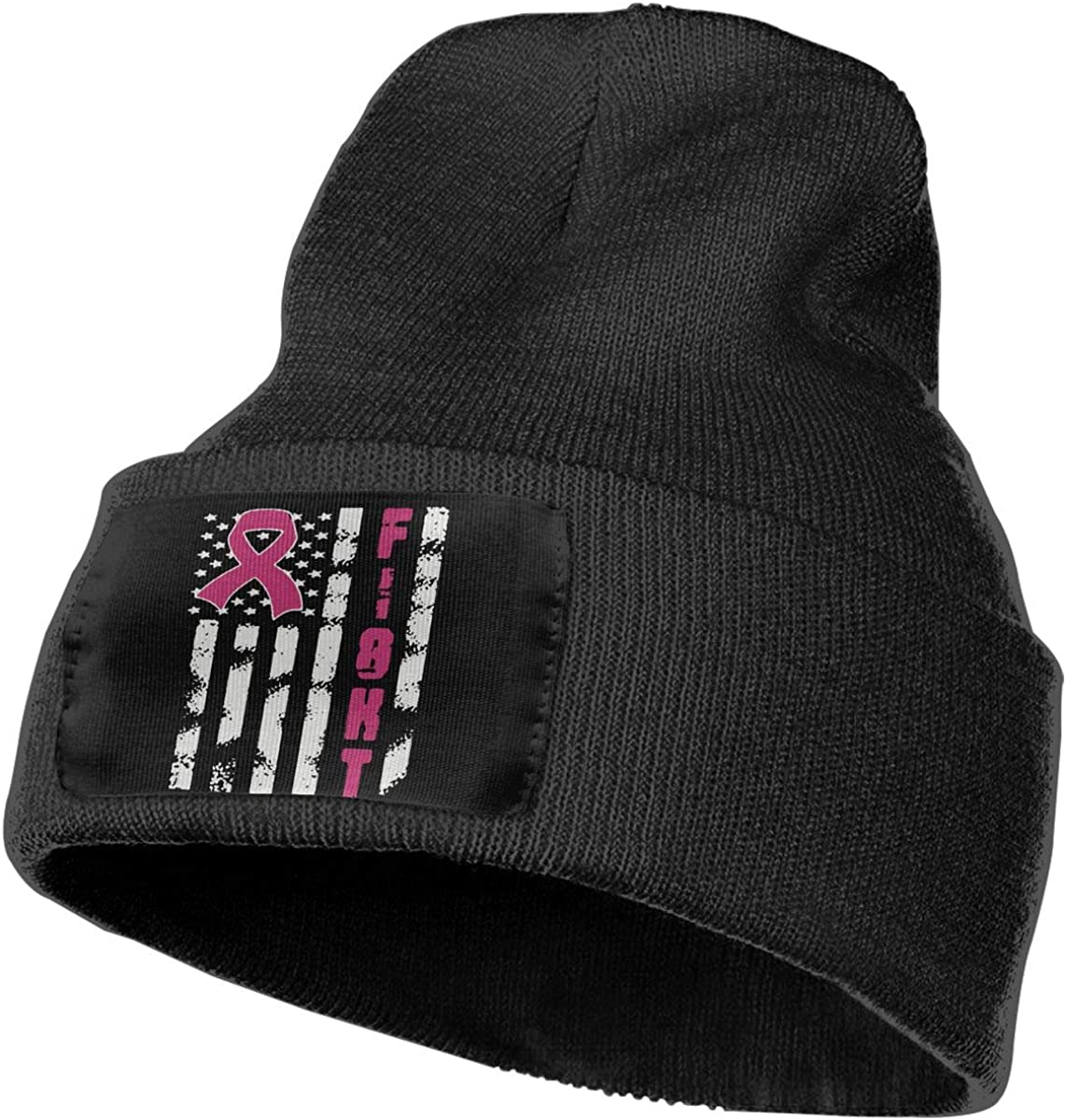 Breast Cancer Flag Fashion Ski Cap WHOO93@Y Unisex 100/% Acrylic Knitted Hat Cap