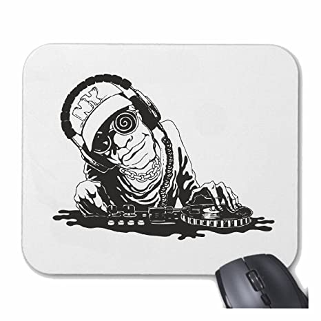 Mousepad alfombrilla de ratón DJ Rockmusik HAY TAMBORES la guitarra del cráneo de DJ SOL TECHNO ...