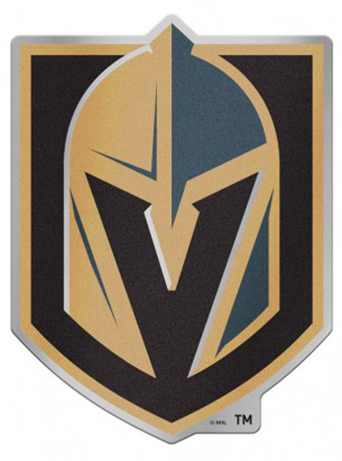 WinCraft NHL Las Vegas Golden Knights 4.85 x 3.5 Inch Plastic Auto Badge Sticker Decal