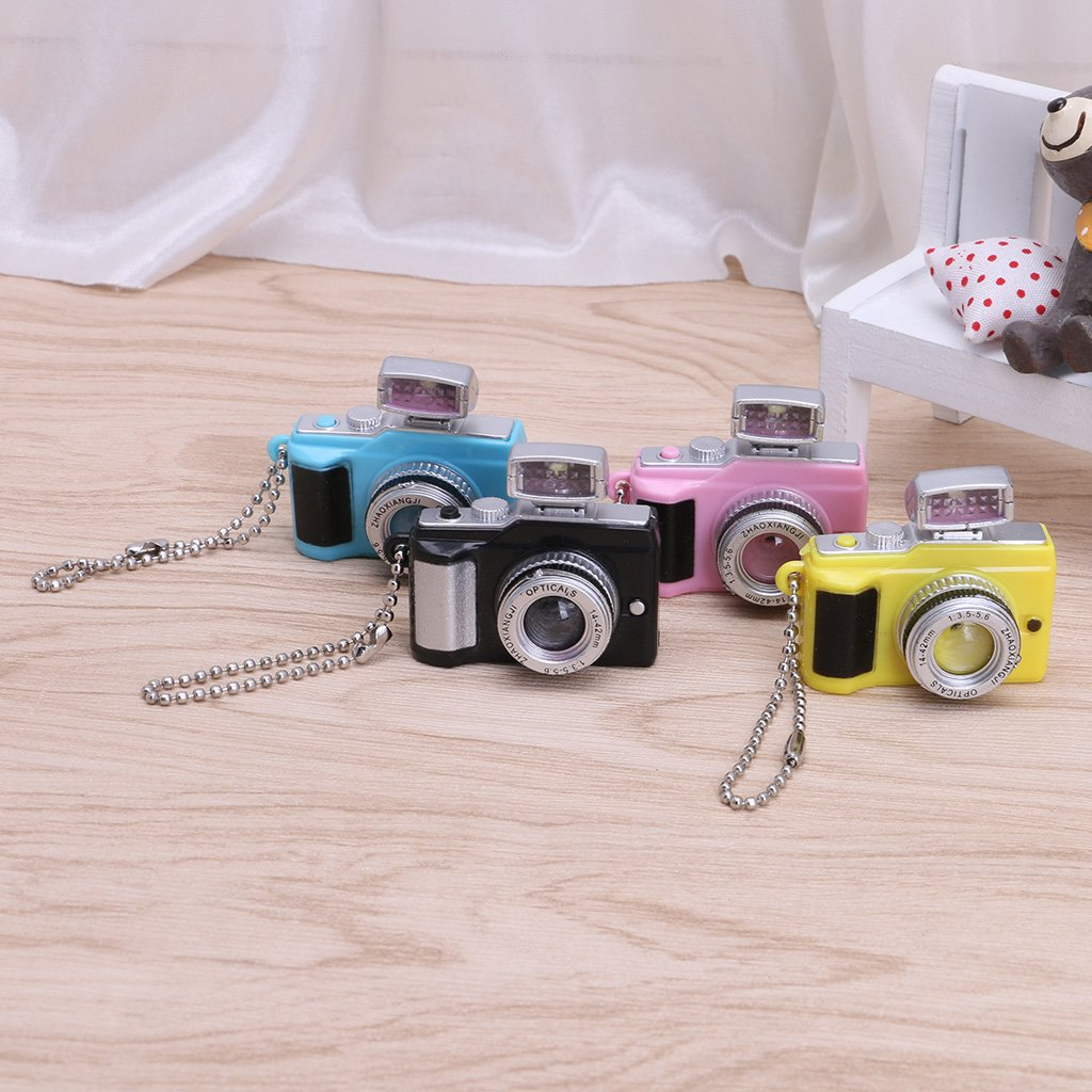 Portachiavi con Luce a LED per Fotocamera Creativa Rosa siwetg