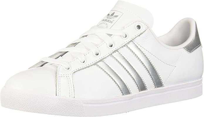 Adidas ORIGINALS Women's Coast Star Shoes, Footwear White/Silver Metallic/Grey One, 10 Regular US