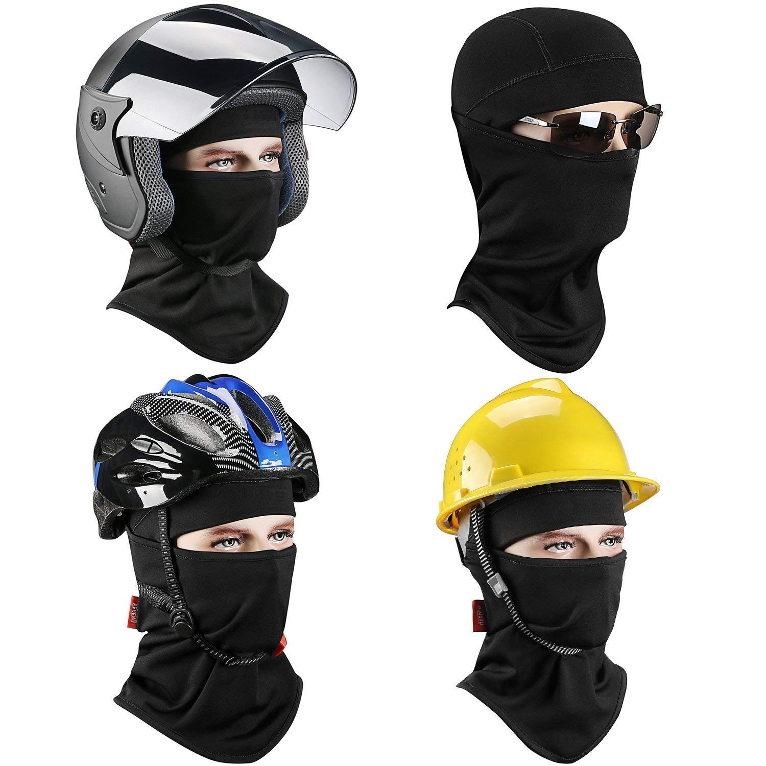 Sun SKYDEER Balaclava Face Mask with Dust UV Protection for Outdoor Activities Black