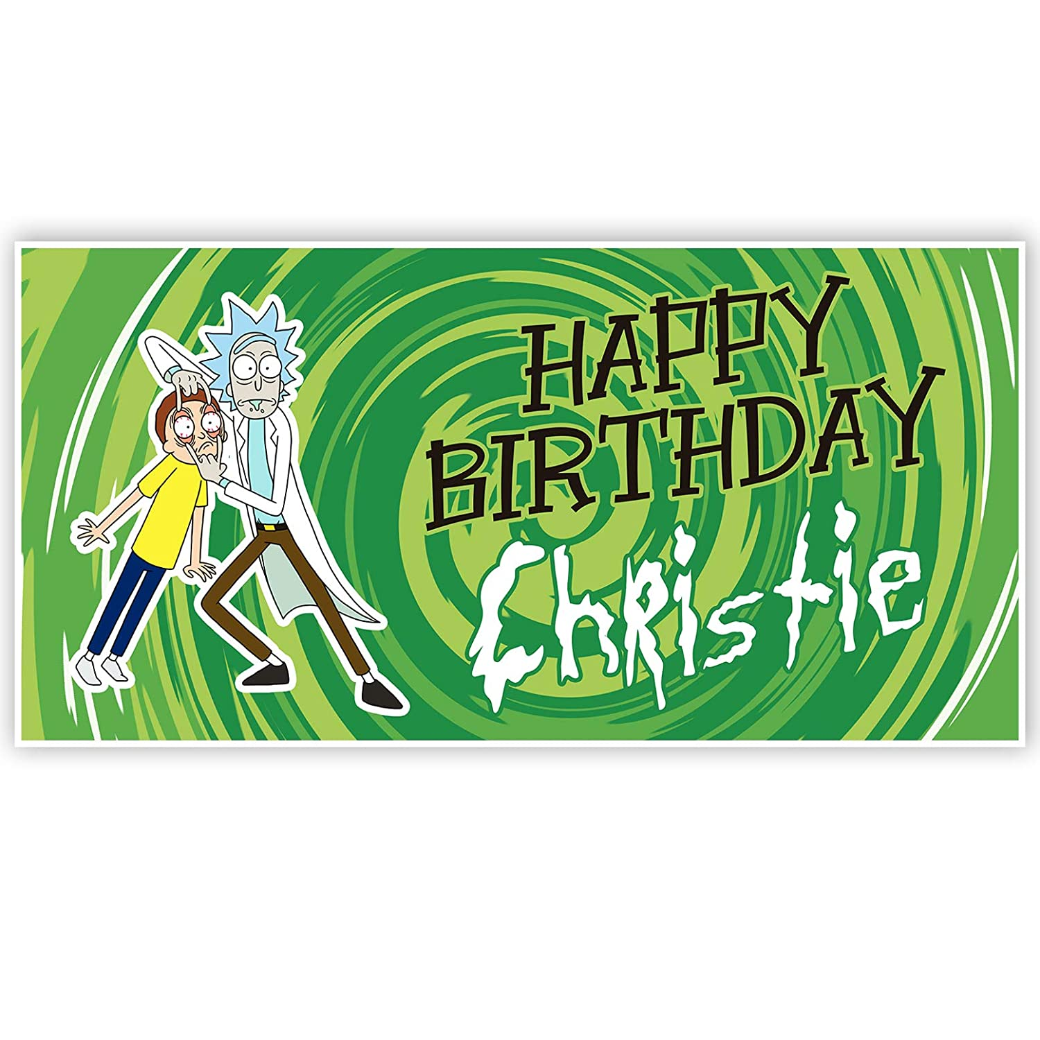 Rick and Morty Personalized Birthday Banner