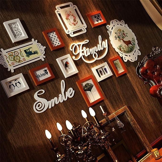 Muro fotográfico Creativo/Muro Creativo para portaretrato/Portaretrato / Muro de Madera, Que representa el área de la Pared 136 * 83cm, Todo en Blanco ...