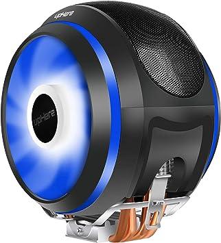 upHere 4 Heatpipes Ventilador de CPU LED Azul Ventiladores PWM de ...
