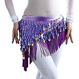 (イーエフイー)EFE レディース ベリーダンス衣装 コイン ヒップスカーフ 3色選択