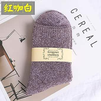 5 pares de calcetines térmicos de invierno para hombre, regalos para hombres, 100 calcetines de algodón de invierno, calcetines de trabajo, calcetines gruesos de trabajo para hombre-Oro_39-45: Amazon.es: Ropa y accesorios