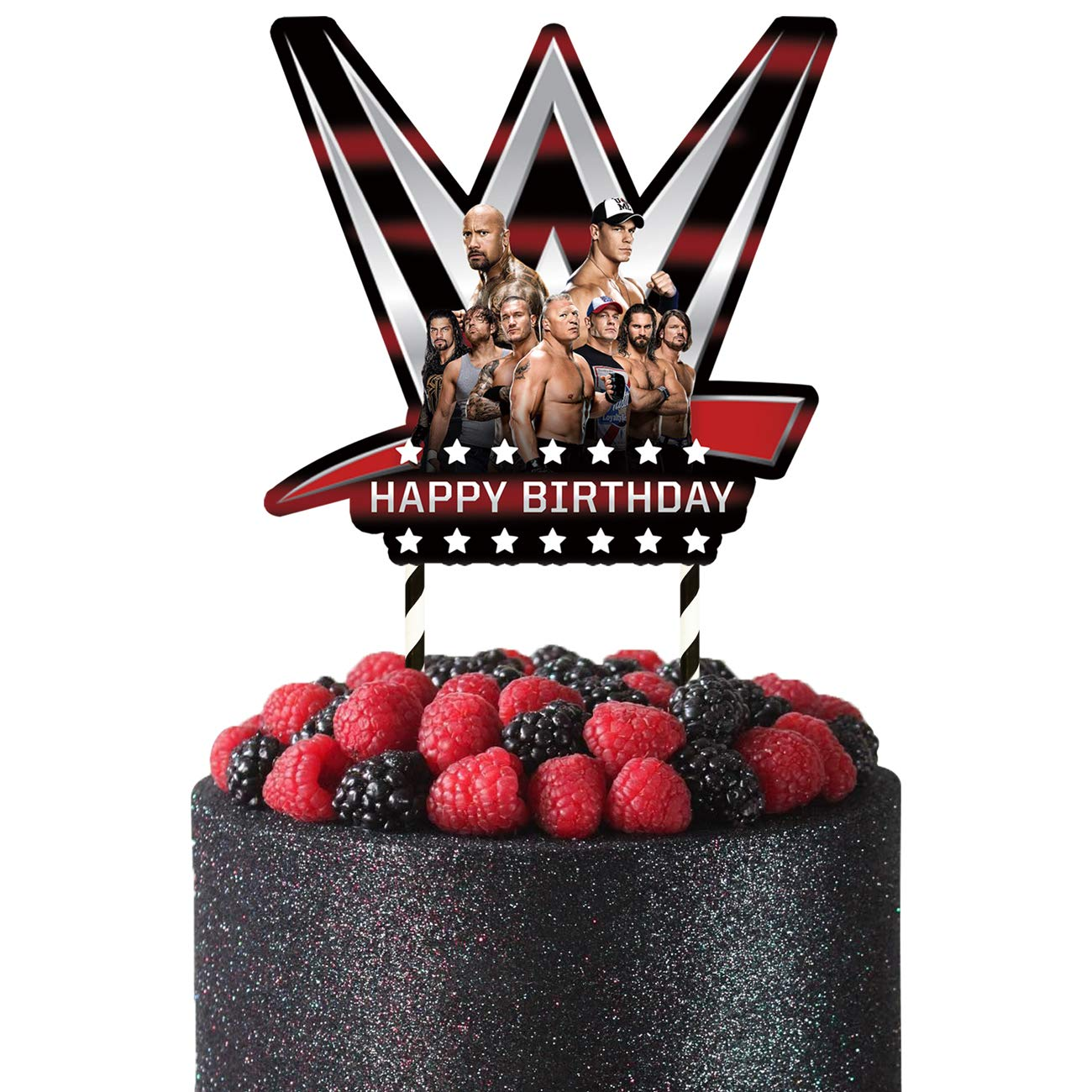 Groovy Wwe Cake Topper Decorations Birthday Party Wwe Theme For Boys 1 Funny Birthday Cards Online Alyptdamsfinfo