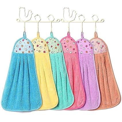 Amazon Com Tong Yue Candy Colors Soft Coral Velvet Towel Kitchen