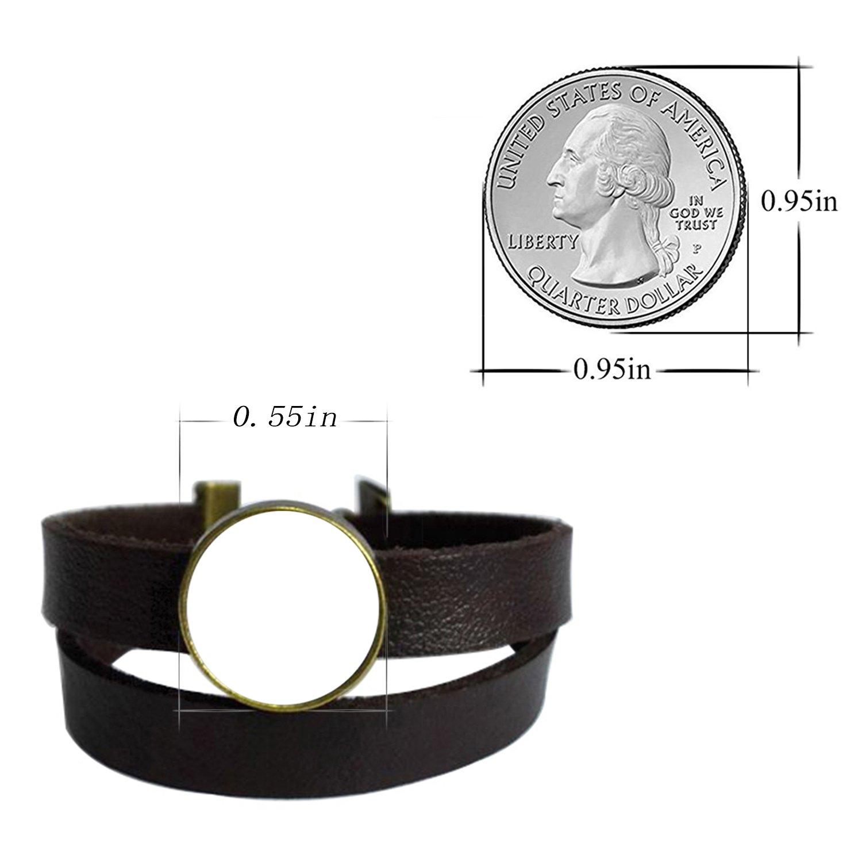 LooPoP Vintage Punk Dark Brown Leather Bracelet Nordic Wiccan Wolf Belt Wrap Cuff Bangle Adjustable by LooPoP (Image #2)