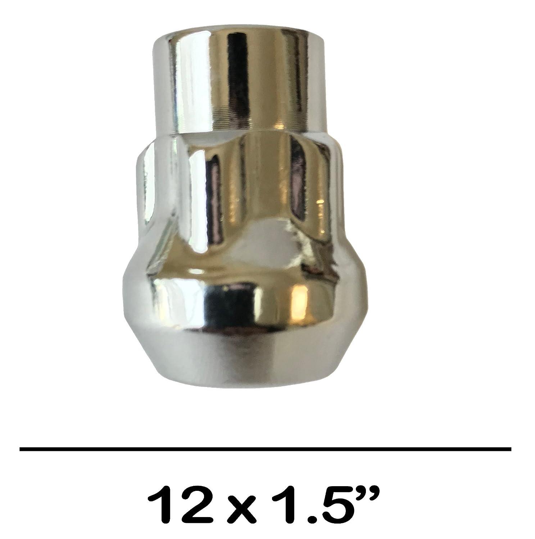 Utopicar /Écrous De Roue 12 Mm X 1,5 Set of 4 + Key Roue Cl/é Pochette De Rangement De Verrouillage Inclus /Écrous Anti-Vol