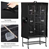 Yaheetech Large Black Bird Cage Cover w/Mesh
