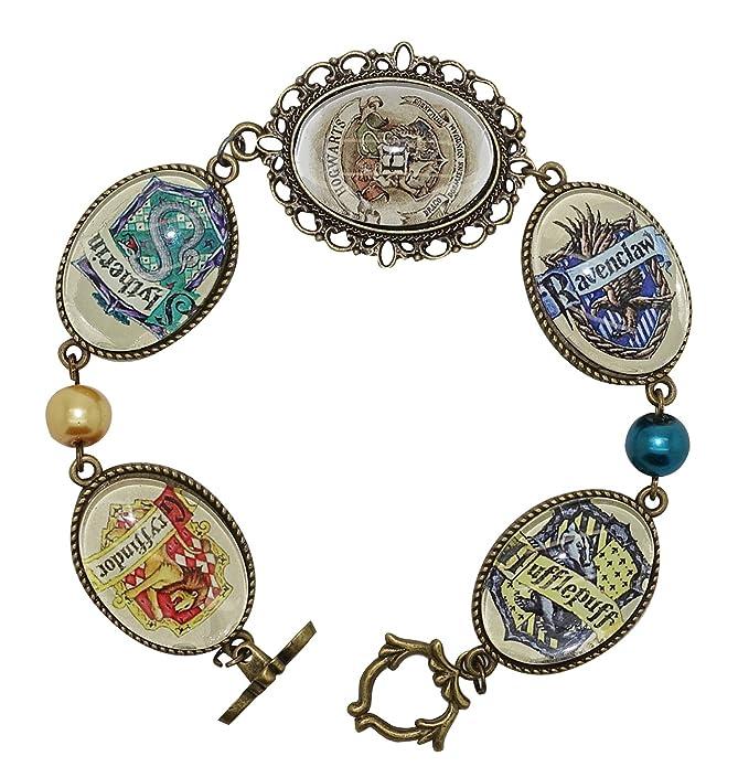 Amazon.com: Cyqun pulsera de escuela Hogwarts de Harry ...