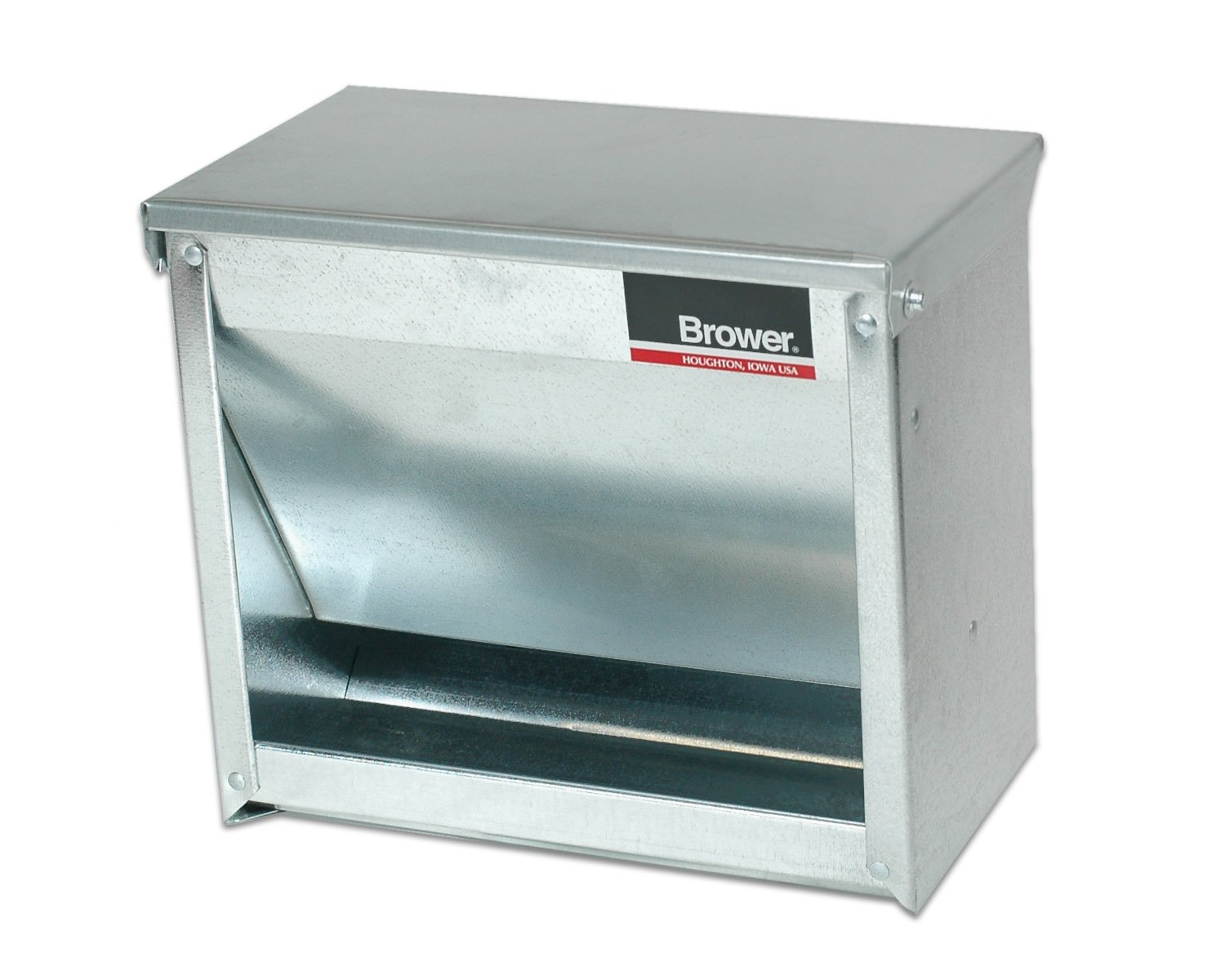 Brower 1CF Galvanized Steel Small Animal Feeder