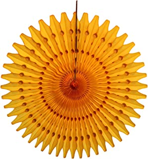 product image for 3-Pack 21 Inch Tissue Paper Fan (Gold)