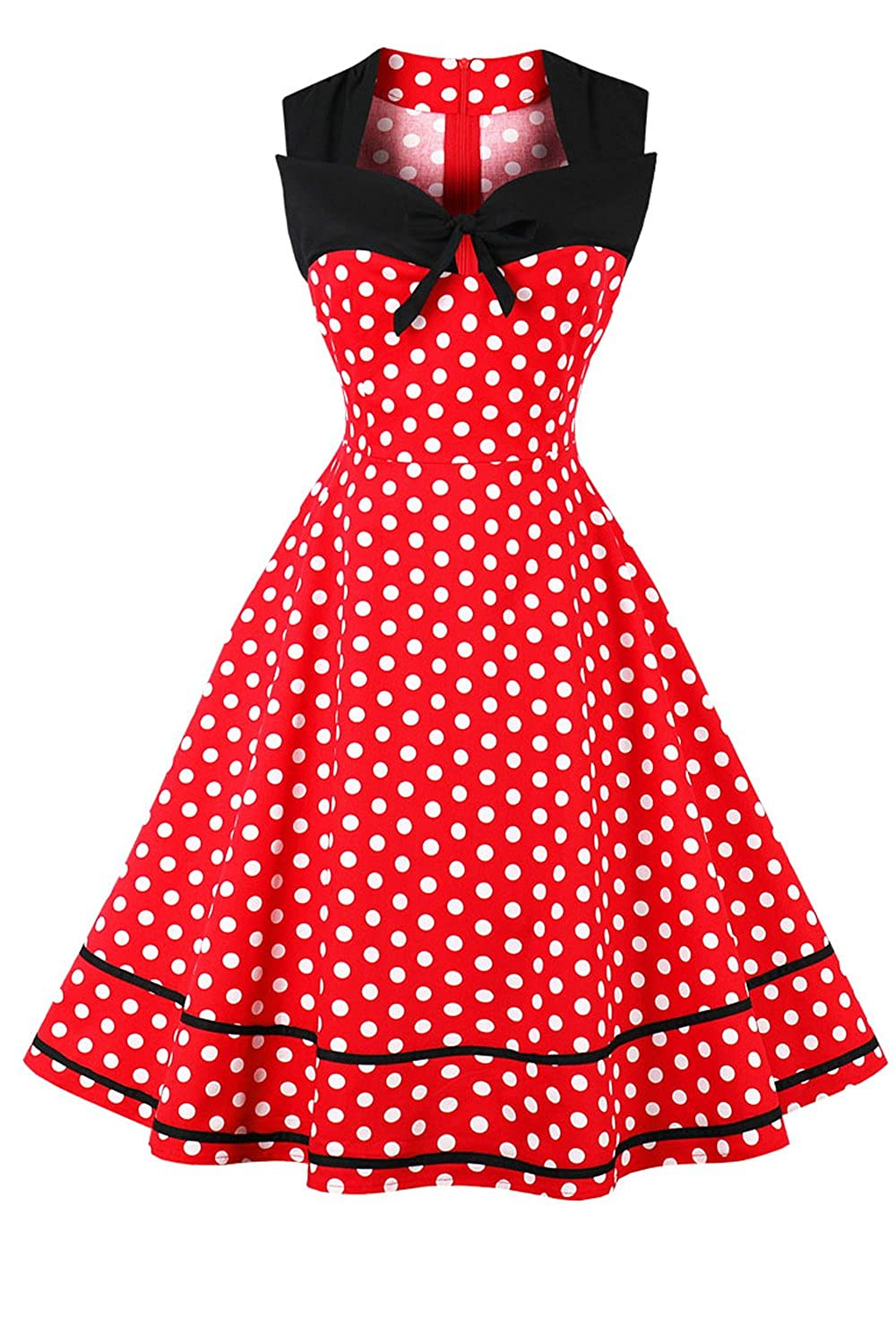 YACUN La Mujer Polka Dot Dress Cocktail Swing Rockabilly Vintage Años 50: Amazon.es: Ropa y accesorios