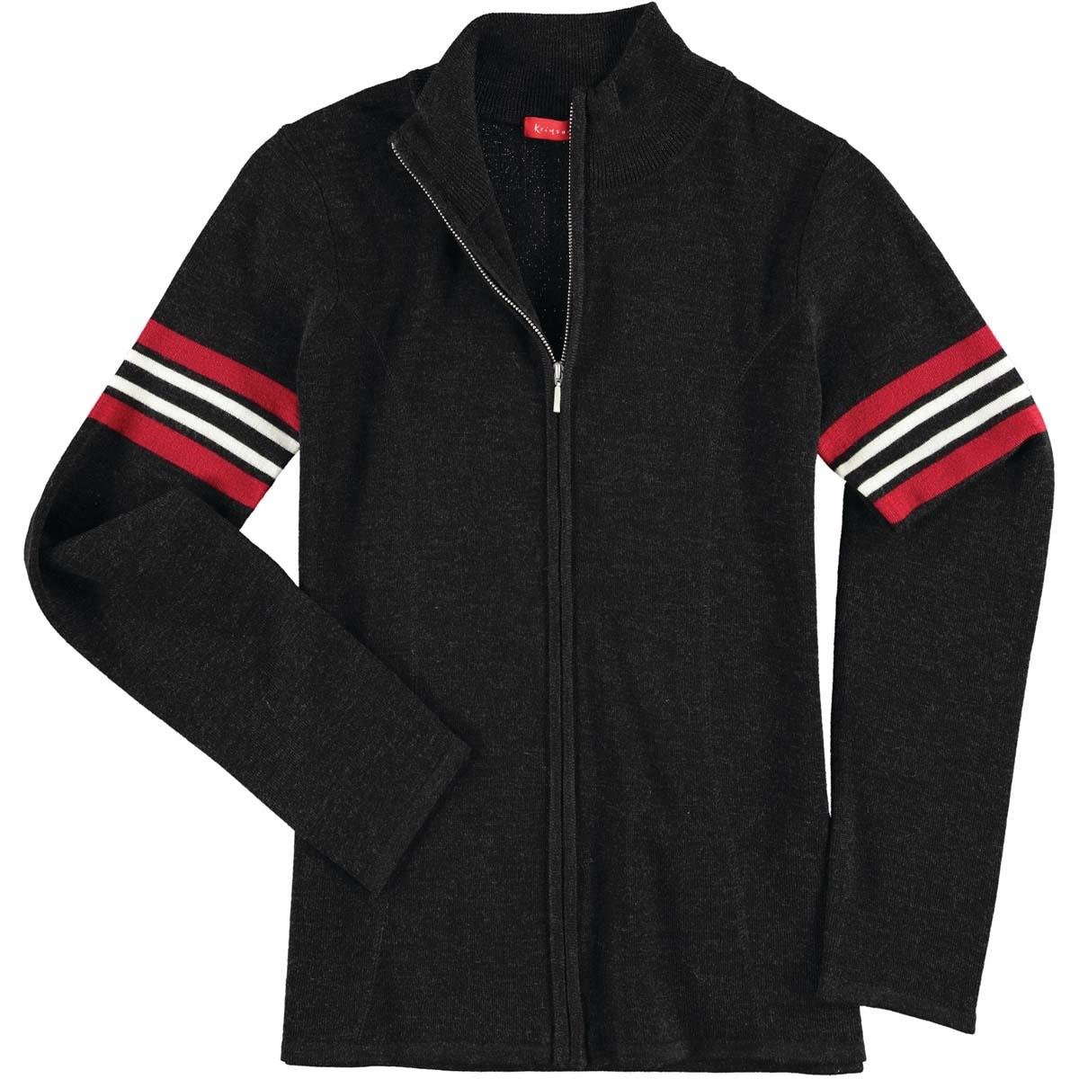 Krimson Klover Bette Full Zipプルオーバーメリノウールセーター – 追加のサイズと色使用可能 B073XTKSBR X-Small|ブラック ブラック X-Small