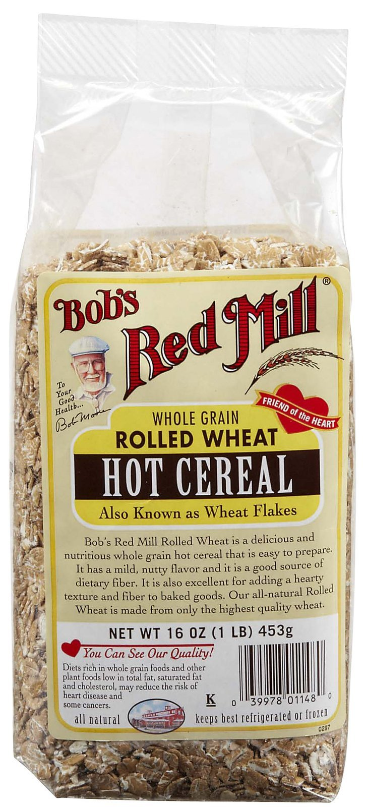 Bob's Red Mill Rolled Wheat Hot Cereal -- 16 oz