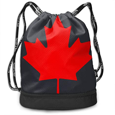 d75800fc7df8 Amazon.com  Brady Johnson Canada Leaf Waterproof Gym Sackpack ...