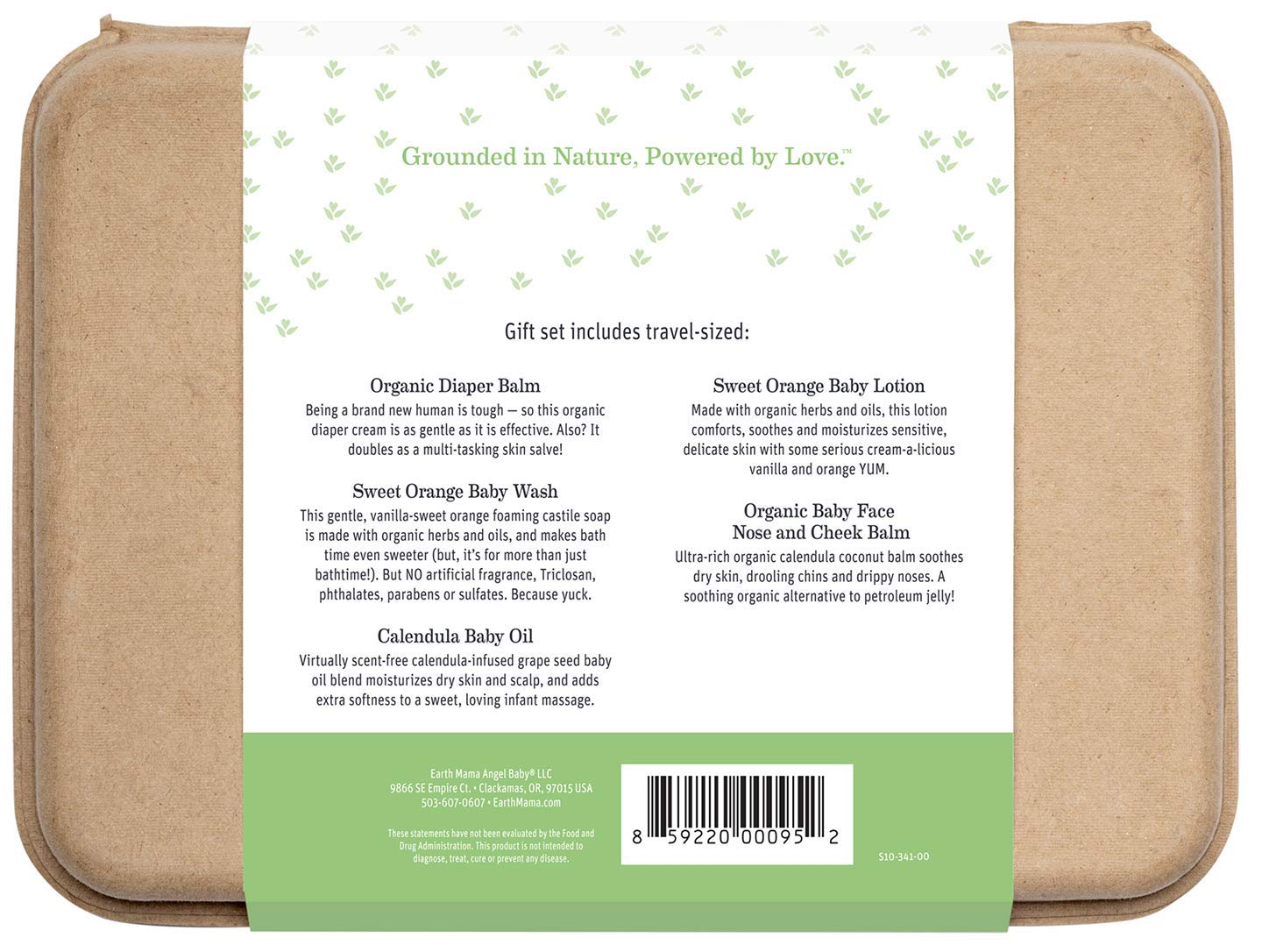 A Little Something for Baby Gift Set by Earth Mama   Safe Skin Care Essentials for Newborn Baby Shower, 5-Piece Set