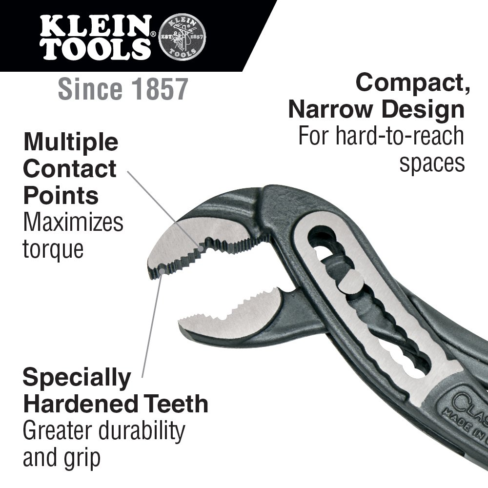Classic Klaw Pump Pliers, 7-Inch Klein Tools D504-7 by Klein Tools (Image #2)