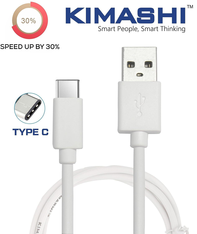 Kimashi KIMTC1 Type C to USB A Cable - 3.3 Feet (1 Meter) - (White)